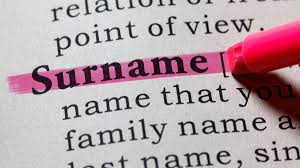 changing your child's surname