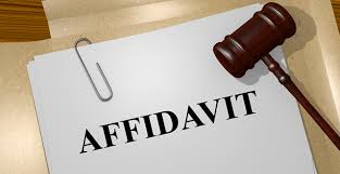 writing an affidavit